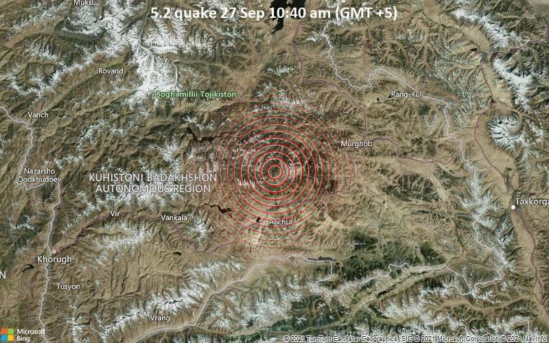 5.2 quake 27 Sep 10:40 am (GMT +5)