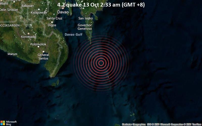 4.2 quake 13 Oct 2:33 am (GMT +8)
