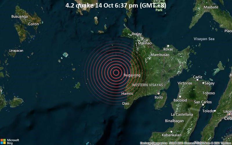 4.2 quake 14 Oct 6:37 pm (GMT +8)