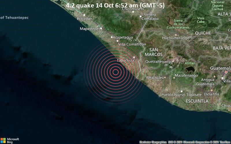 4.2 quake 14 Oct 6:52 am (GMT -5)