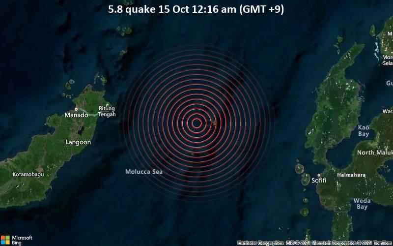 5.8 quake 15 Oct 12:16 am (GMT +9)