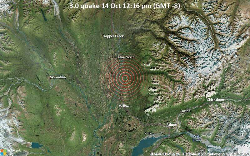 3.0 quake 14 Oct 12:16 pm (GMT -8)