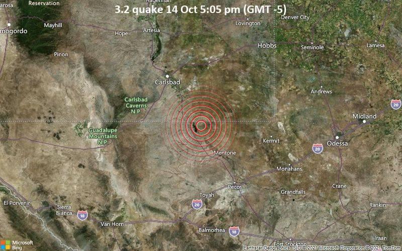 3.2 quake 14 Oct 5:05 pm (GMT -5)