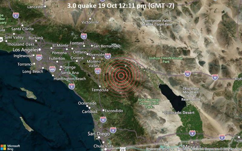 3.0 quake 19 Oct 12:11 pm (GMT -7)