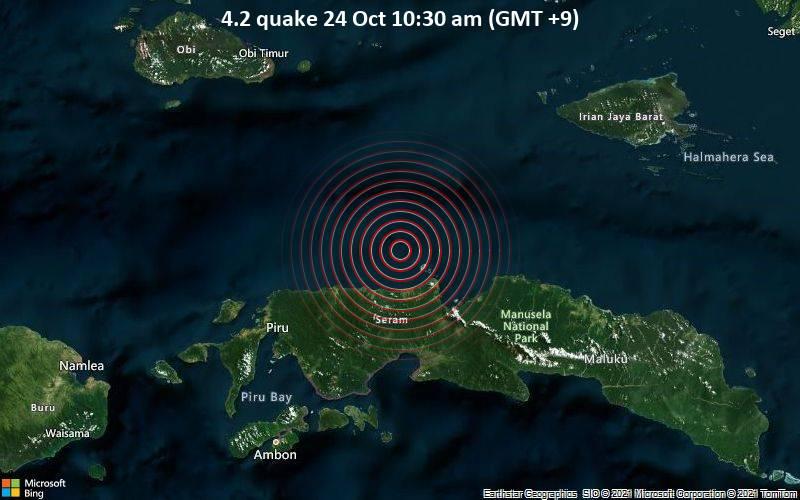 4.2 quake 24 Oct 10:30 am (GMT +9)