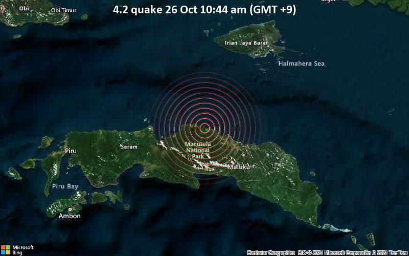 4.2 quake 26 Oct 10:44 am (GMT +9)