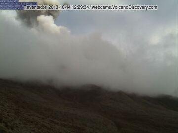 Ash explosion at Reventador volcano yesterday