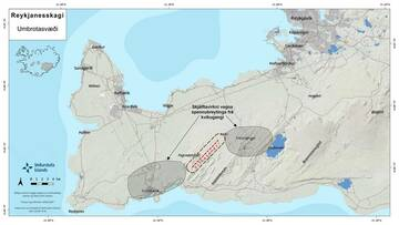 The area where Icelandic scientists believe is being affected by a magmatic intrusion that might or not lead up to an eruption in the near future (source: IMO / twitter)