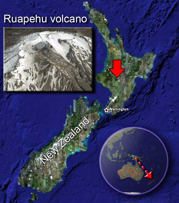 Ruapehu volcano sat by (c) Google Earth View