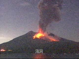 Eruption from Sakurajima yesterday