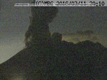 Eruption from Sakurajima's Minamidake crater on 11 March 2016