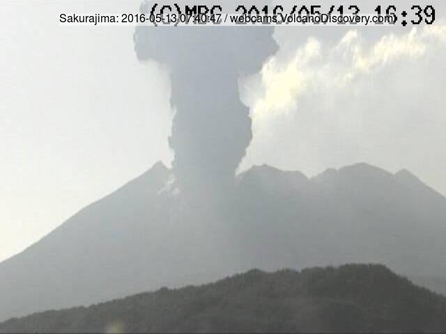 Explosion of Sakurajima volcano this morning