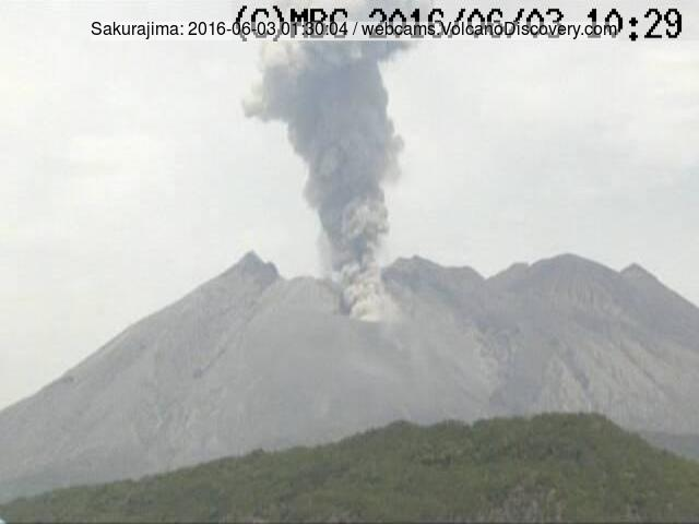 Eruption of Sakurajima this morning