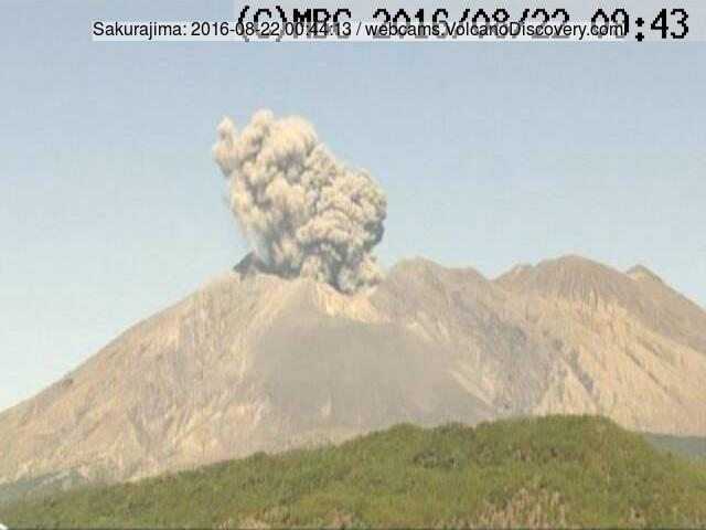 Explosion at Sakurajima's Minamidake crater this morning