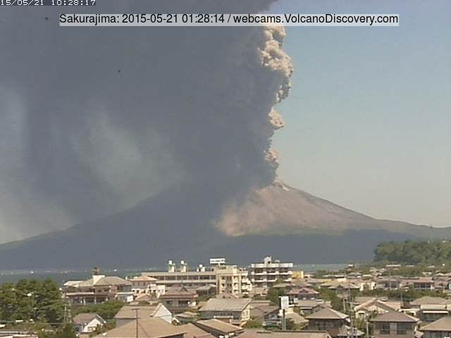 Strong explosion at Sakurajima yesterday