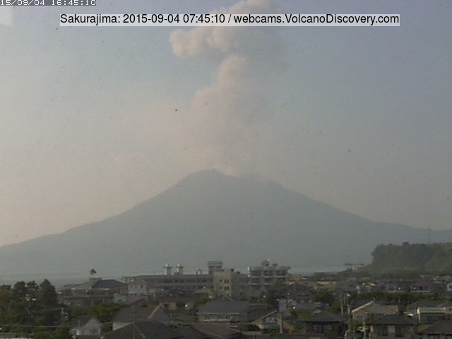 Eruption from Sakurajima volcano this morning
