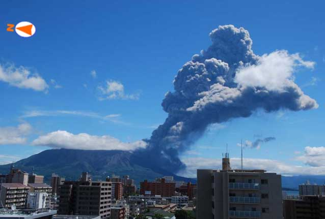 Vulcanian explosion from Sakurajima this morning (JMA)