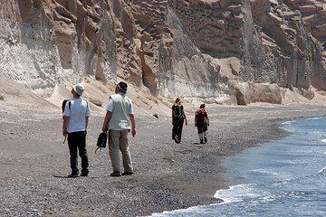 Walking on Santorini Island