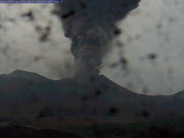 Large amounts of ash from Semisopochnoi volcano this morning (image: AVO)