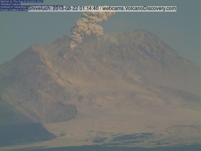 Shiveluch this morning (KVERT webcam)