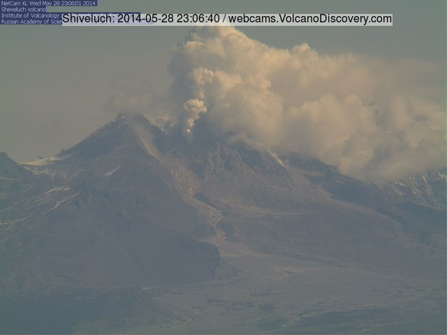 Shiveluch volcano today (KVERT webcam)