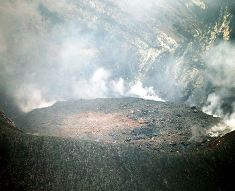 The blocked Showa crater of Sakurajima (image: Asahi Shimbun)