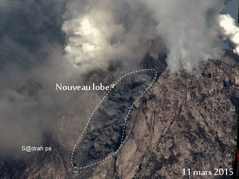 The new lava lobe as on 11 March 2015 (image: Sadrah PS / Culture Volcan)