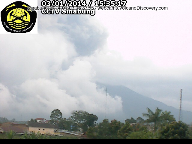 Eruption from Sinabung this morning (VSI webcam)