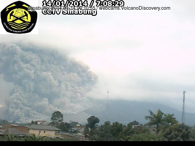 The probably largest-so-far pyroclastic flow at Sinabung this morning