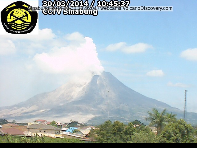 Sinabung volcano this morning (VSI webcam)