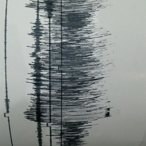 Seismic recording from Sinabung showing a hot avalanche going on (PVMBG)