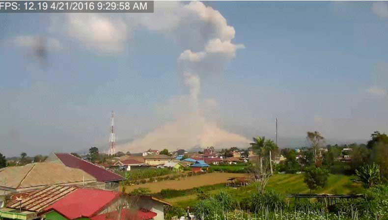 Explosion from Sinabung last Friday