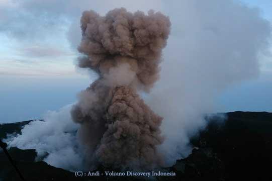 Strombolian activity at Slamet volcano a few days ago