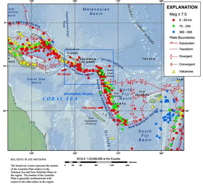 Microplates and seismicity near the New Hebrides Subduction zone