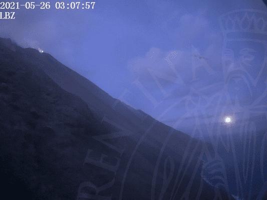 View of Stromboli's Sciara this morning.