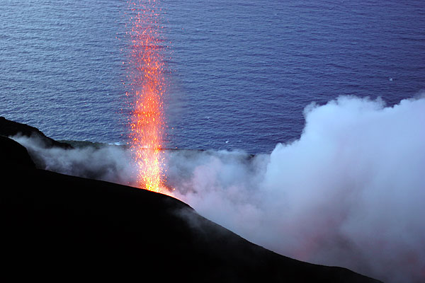 Candle-like eruption from the active vent inside the NW crater (1)