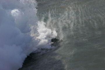 Steaming sea water