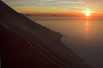 Sunset on the sea. (1)