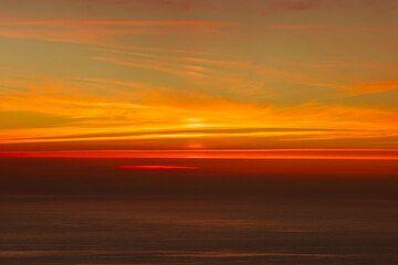 """""""Pillars"""" on the horizon after sunset"""