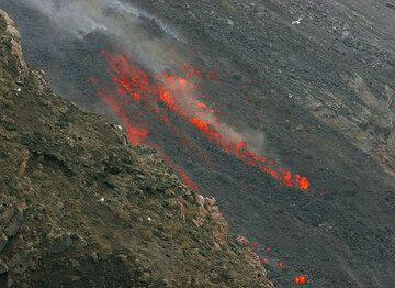 Advancing lava flow (1)