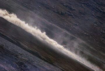 A weaker pyroclastic flow...