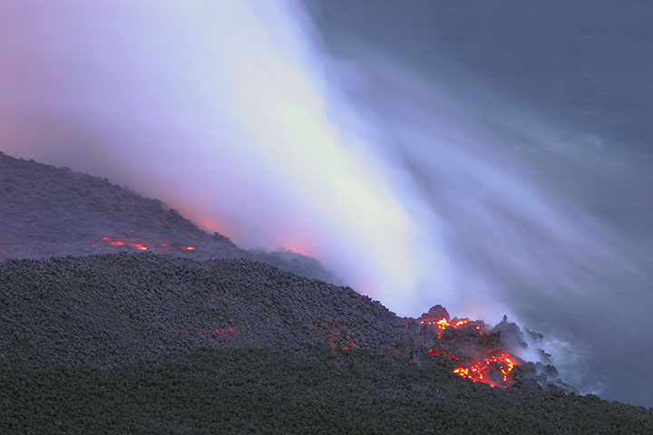 The small entry in the western-center of the delta, corresponding to the small lava-tube fed entry on the 6th photo.