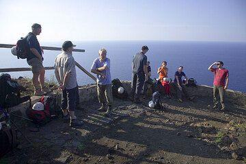 At a viewpoint on Sciara del Fuoco (Stromboli)