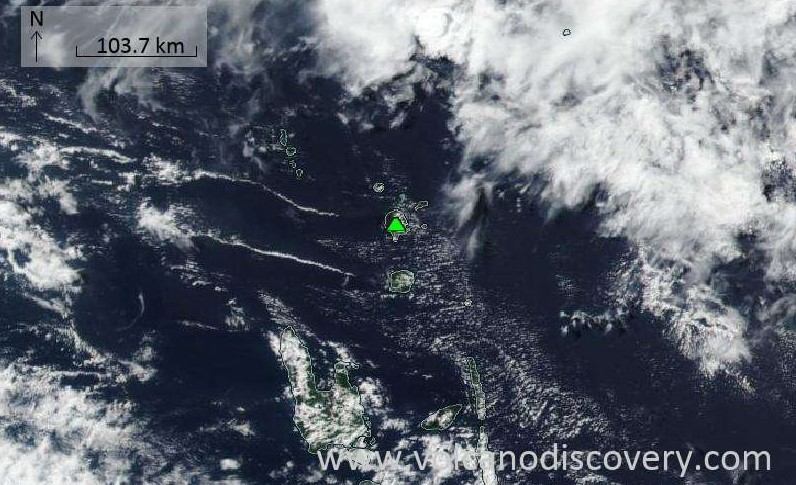 Satellite image of Suretamatai volcano on 27 Aug 2020