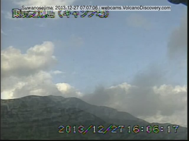 Gas (+ash?) plume from Suwanose-Jima this morning