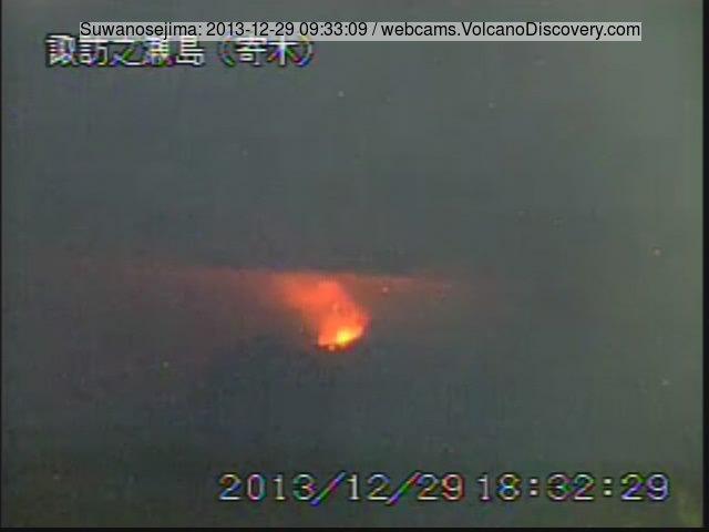 Suwanose-jima seen from the NE (JMA webcam)
