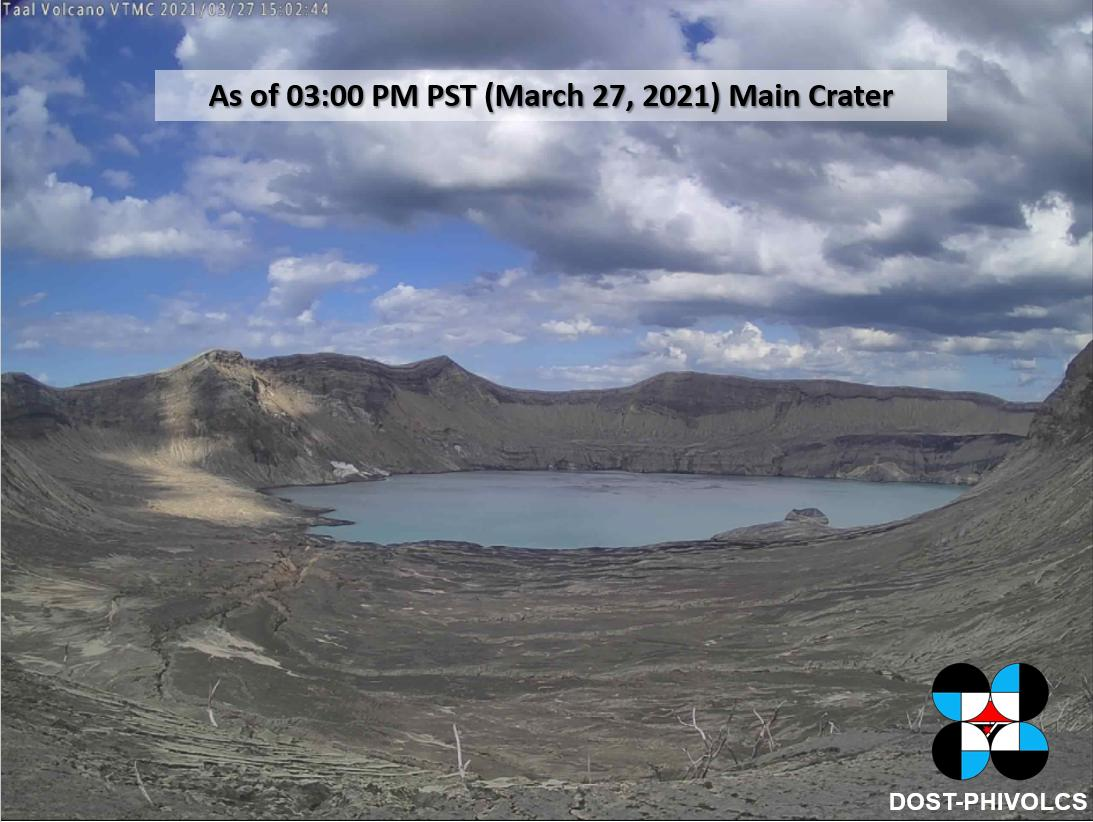 The Main Crater Lake  from PHIVOLCS's webcam on 27 March