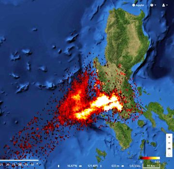 SO2 emissions from Taal volcano detected by Sentinel5p (image: @PlatformAdam/twitter)