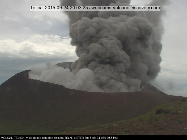 Eruption of Telica volcano yesterday