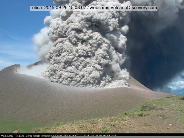 Eruption of Telica volcano yesterday